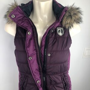 American Eagle outfitters-purple hoodie vest S/P